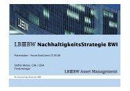 NachhaltigkeitsStrategie BWI - Deutsches CSR-Forum