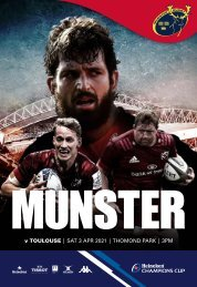 Munster Rugby v Toulouse Match Programme