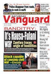 03042021 - BANDITRY  Its Hausa-Fulani war Zamfara traces origin of hostilities
