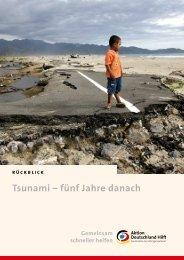 Tsunami – fünf Jahre danach en - Aktion Deutschland Hilft