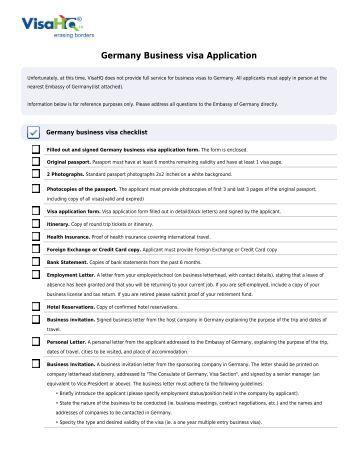 Vfs Germany Visa Application Form