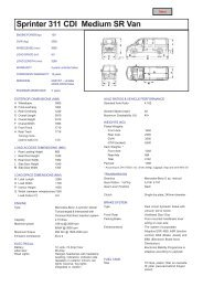 Sprinter 311 CDI Medium SR Van