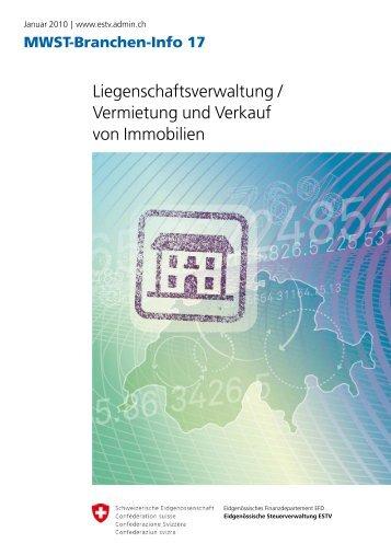 Liegenschaftsverwaltung / Vermietung und Verkauf von Immobilien