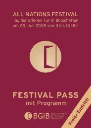 Opodo – und die Reise beginnt. - All Nations Festival
