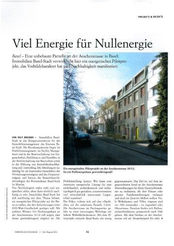 Viel Energie für Nullenergie - Immobilien Basel-Stadt