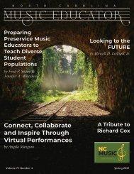 NC Music Educator Journal Spring 2021
