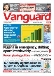 05042021 - Nigeria in emergency, drifting apart irretrievably