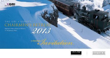 Invitation - Global Real Estate Institute