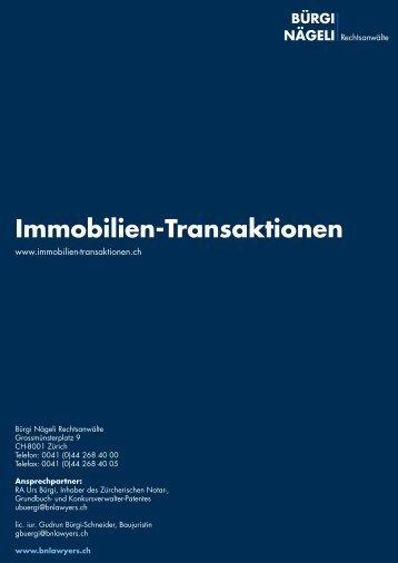 Sprachen - Immobilien Transaktionen