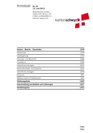 Amtsblatt Nr. 24 vom 15. Juni 2012 (1533 - Kanton Schwyz