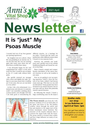 """It is """"just"""" My Psoas Muscle"""