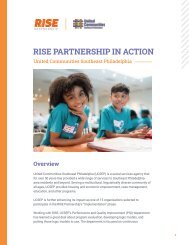 RISE Case Study: United Communities Southeast Philadelphia