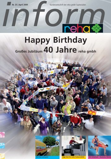 Happy Birthday - Reha GmbH