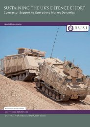 Henrik Heidenkamp, Sustaining the UK's Defence Effort - RUSI