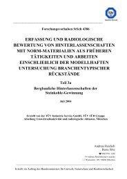 erfassung und radiologische bewertung von hinterlassenschaften mit
