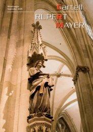 Das Geschehen in den Gilden - Cartell Rupert Mayer