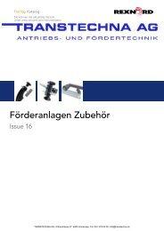 Förderanlagen Zubehör REXNORD Issue 16