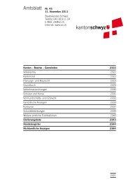Amtsblatt Nr. 45 vom 11. November 2011 (985 - Kanton Schwyz