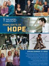 2021 Spring/Summer Highlights of Hope