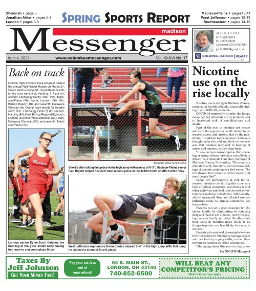 Madison Messenger - April 4th, 2021