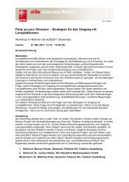 Pimp up your Dinosaur – Strategien für den ... - e-Learning Baltics