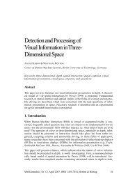 2. A theoretical model of 3-D spatial interactions - MMI-Interaktiv