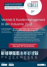 Vertrieb & Kundenmanagement in der Industrie 2012 - Business Circle