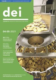 dei – Prozesstechnik für die Lebensmittelindustrie 04-05.2021