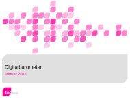 Digitalbarometer Januar 2011 - TNS Emnid