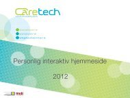 Personlig interaktiv hjemmeside 2012 - Caretech Innovation