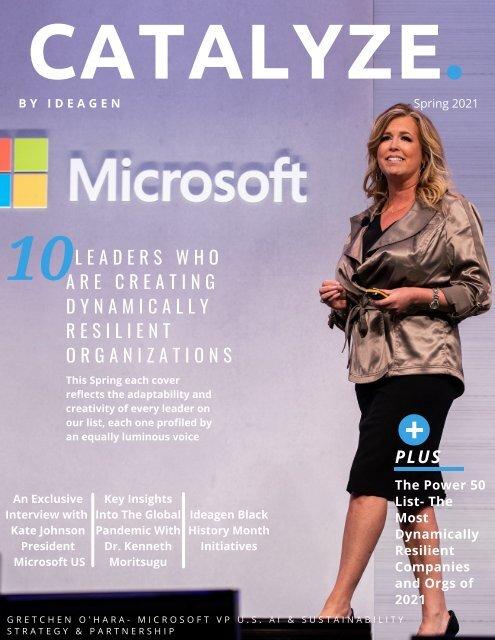Catalyze Magazine Spring 2021