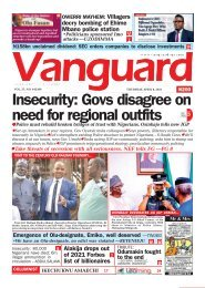 08042021 - Insecurity: Govs disagree on need for regional outfits