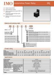 Automotive Power Relay SRJ - Hinkel Elektronik
