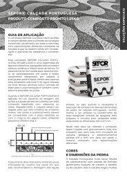 SEPOR@ Calçada Portuguesa - 25KG