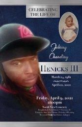 Johnny Henicks III Memorial Program