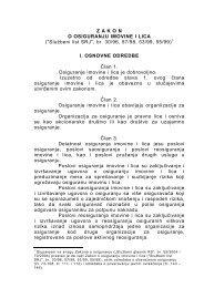 Zakon o osiguranju imovine i lica