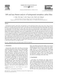 XPS and laser Raman analysis of hydrogenated amorphous carbon ...
