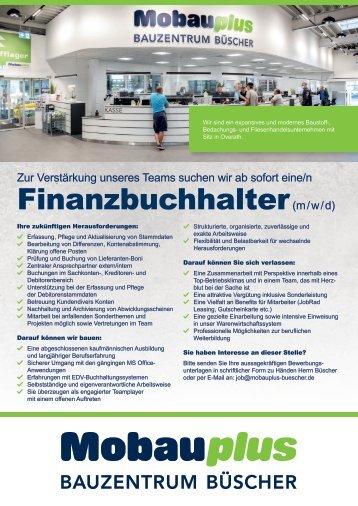 Stellenausschreibung Finanzbuchhalter
