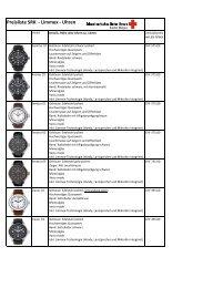 Preisliste SRK - Limmex - Uhren - Schweizerisches Rotes Kreuz ...