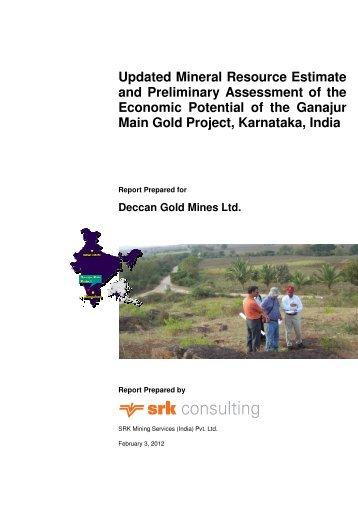 Ganajur Scoping Study Final Report by SRK - Deccan Gold Mines ...