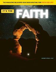It's the Faith Shabbat April 10, 2021