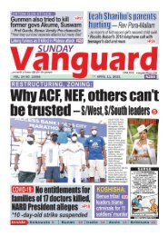 11042021 - Why AF, NEF others cant be trusted - S/West , S-South Leaders