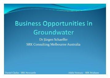 Dr Jürgen Schaeffer SRK Consulting Melbourne Australia