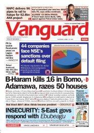 12042021 - B-Haram kills 16 in Borno, Adamawa, razes 50 houses