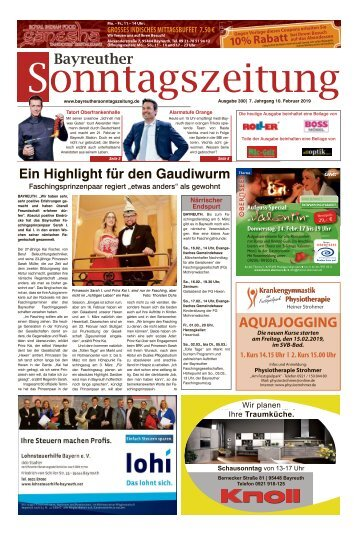 2019-02-10 Bayreuther Sonntagszeitung