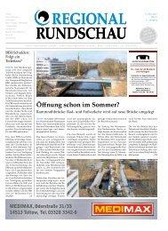 Regional-Rundschau, 14. April bis 11. Mai 2021