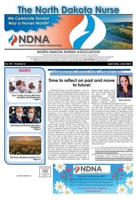 North Dakota Nurse - April 2021