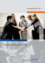 Bericht des Vorstandes - Volksbank Metzingen - Bad Urach eG