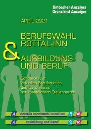 Berufswahl Rottal-Inn & Ausbildung und Beruf - April 2021