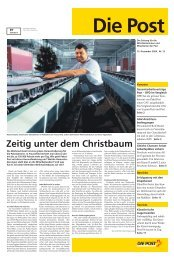Zeitig unter dem Christbaum - Die Schweizerische Post